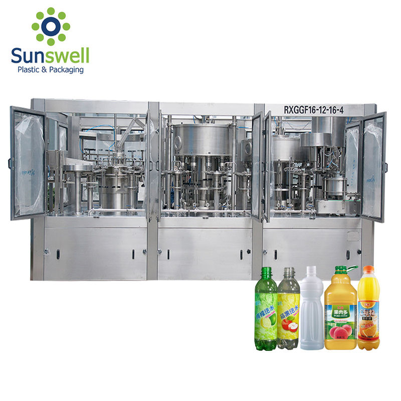 Advanced Technology Juice Filling Machine Rotary Washer Filler Capper 3 In 1 Monoblock